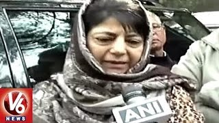 Curfew Continues In Kashmir | Students Meet CM Mahabooba Mufti Over Their Studies | V6 News. Photo,Image,Pics