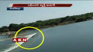 Exclusive Visuals | Man Washed Away In Stream At Medak district