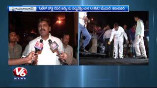 GHMC Mayor Bonthu Ram Mohan And Commissioner Janardhan Reddy Inspects Hyderabad Road Works | V6 News