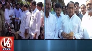 Minister Indrakaran Reddy Inaugurate Maize Purchase Center | Nirmal | V6 News