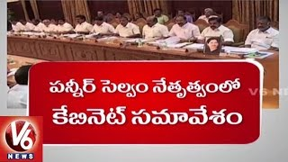 Panneerselvam Chairs TN Cabinet Meeting With Jayalalithaa's Photo | V6 News