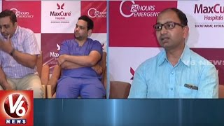 Maxcure Hospital Doctors Performed Rare Surgery To Remove Tumour | Hyderabad | V6 News