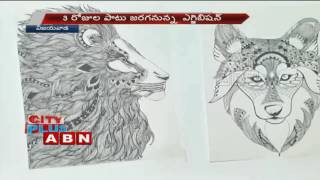 Painting Exhibition by Women Artists at Vijayawada (21-10-2016)