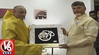 AP CM Chandrababu Naidu Meets Governor ESL Narasimhan In Vijayawada | V6 News