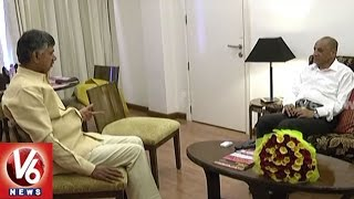 Chandrababu Meets Governor ESL Narasimhan In Vijayawada | Discussed On Various Issues | V6 News
