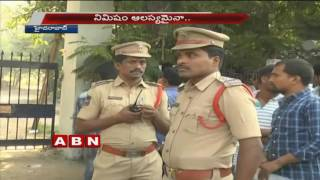 High Security at Telangana Police Constable Exam Centers  (23-10-2016)