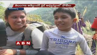 Pre World Cup  Water Rappelling Competitions held at Gayathri Waterfalls In Adilabad