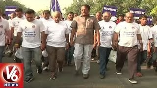 Minister Laxma Reddy Launches Walk To Support Arthritis Awareness Rally In Hyderabad | V6 News