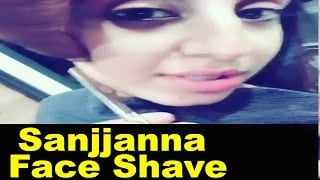 Actress Sanjjanna Galrani Face Shave For Laser Treatment | Video Goes Viral