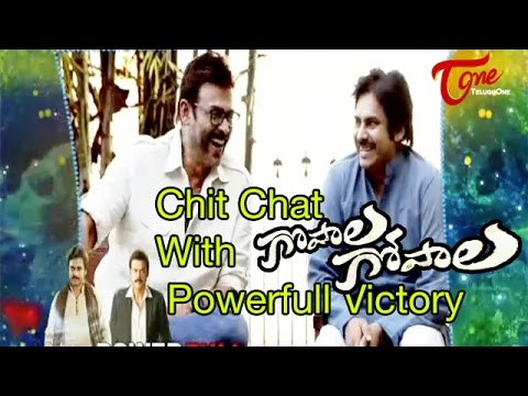 Chit Chat With Pawan Kalyan and Venkatesh || Gopala Gopala Movie Team || 01