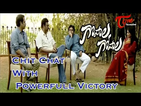Chit Chat With Pawan Kalyan and Venkatesh || Gopala Gopala Movie Team || 03