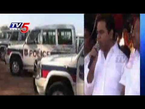 KTR Launches New Police Vehicles In Mehbubnagar
