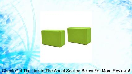 Sivan Health and Fitness Yoga Foam Blocks (Pack of 2, Green) Review