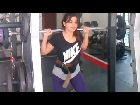 Exclusive : Actress Samantha Weightlifting for Body Fitness - Box Office