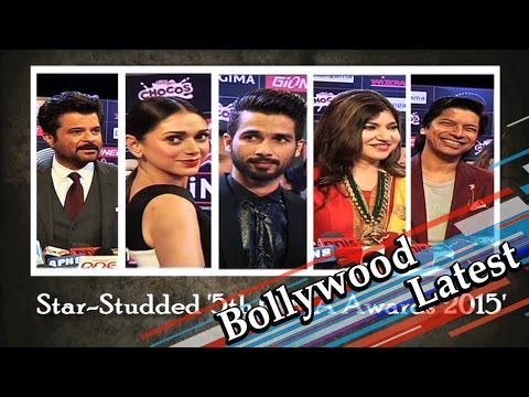 Shahid Kapoor | Anil Kapoor | Aditi Rao Hydari At '5th GIMA Awards 2015′