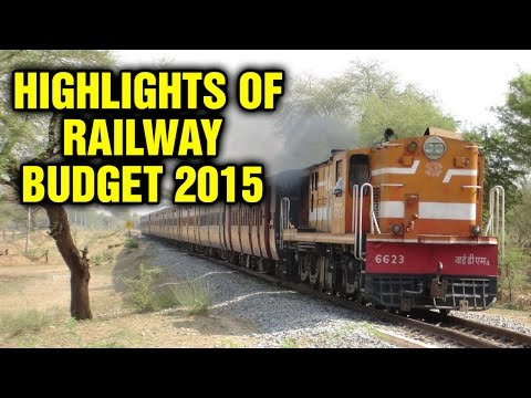 Highlights of Railway Budget 2015  l  6TV Photo Image Pic