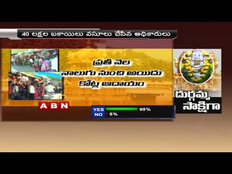 TDP and BJP leaders binamies stopping shopping area auctioning at Indrakiladri (01-03-2015)