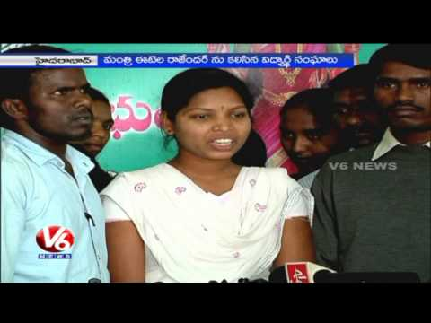 Students union urge Minister Etela Rajender to provide facilities in Hostels – Hyderabad(03-03-2015) Photo Image Pic