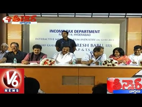 Tollywood producers meet on movie taxes – Income tax department – Teenmaar News (13-03-2015) Photo,Image,Pics-