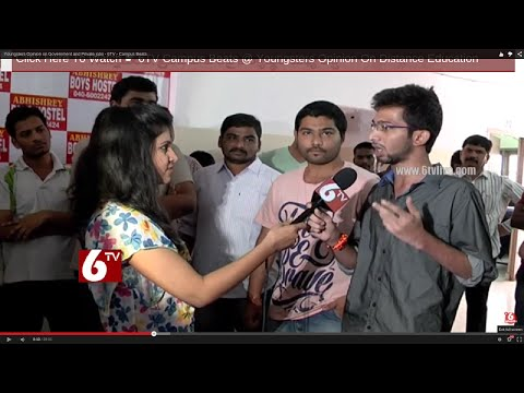 Youngsters Opinions and Difference b/w Government and Private jobs | Campus Beats | 6 TV