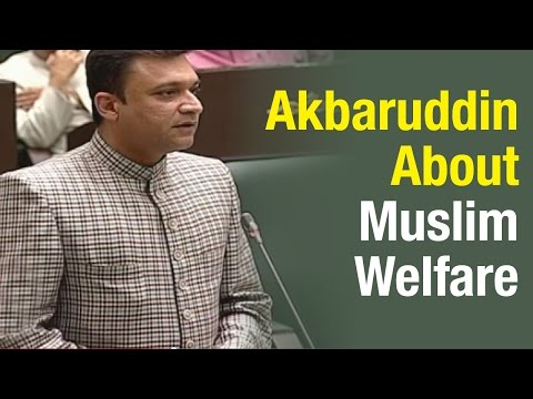 Akbaruddin Owaisi questions TRS on welfare of Muslim Minorities – T Assembly(26-03-2015) Photo Image Pic