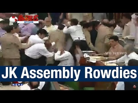 Fight Scene in Jammu and Kashmir Assembly – Teenmaar News (27-03-2015) Photo Image Pic