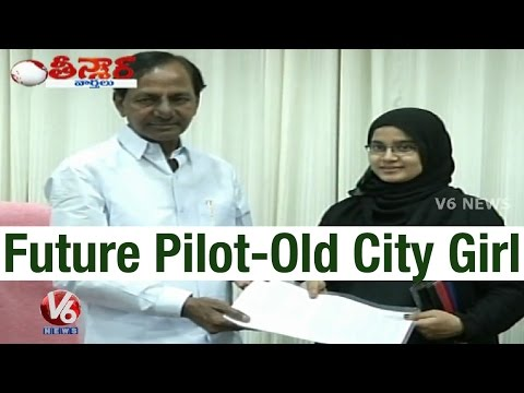 CM KCR encourges Hyderabadi Girl to become Pilot – Teenmaar News (25-03-2015) Photo Image Pic