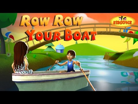 Row Row Row Your Boat English 3D Nursery Rhyme With Lyrics