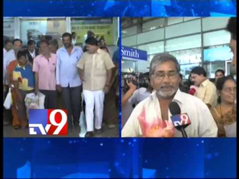 Telugus rescued from Nepal arrive in Hyderabad – Tv9