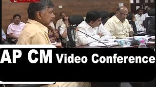 AP CM holds Video Conference over Water Harvesting Projects in Rayalaseema (29-07-2015) Photo Image Pic