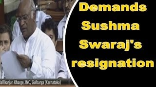 Lalitgate debate begins; Kharge demands Sushma Swaraj's resignation on moral grounds Photo Image Pic