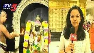 NRI's Grand celebrations of Varalakshmi Vratham in New York | Sri Ranganatha Swamy Temple : TV5 News Photo,Image,Pics-