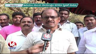 Telangana Special Dishes in TRS Plenary Meet | TRS Formation Day | Khammam – V6 News