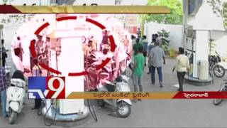 Film style fight in petrol bunk in Hyderabad